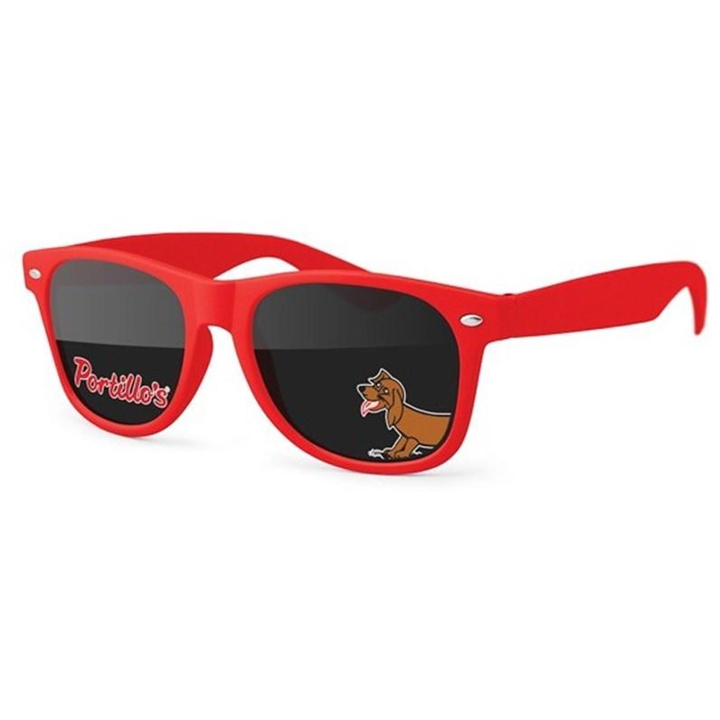 Red Logo Sunglasses.