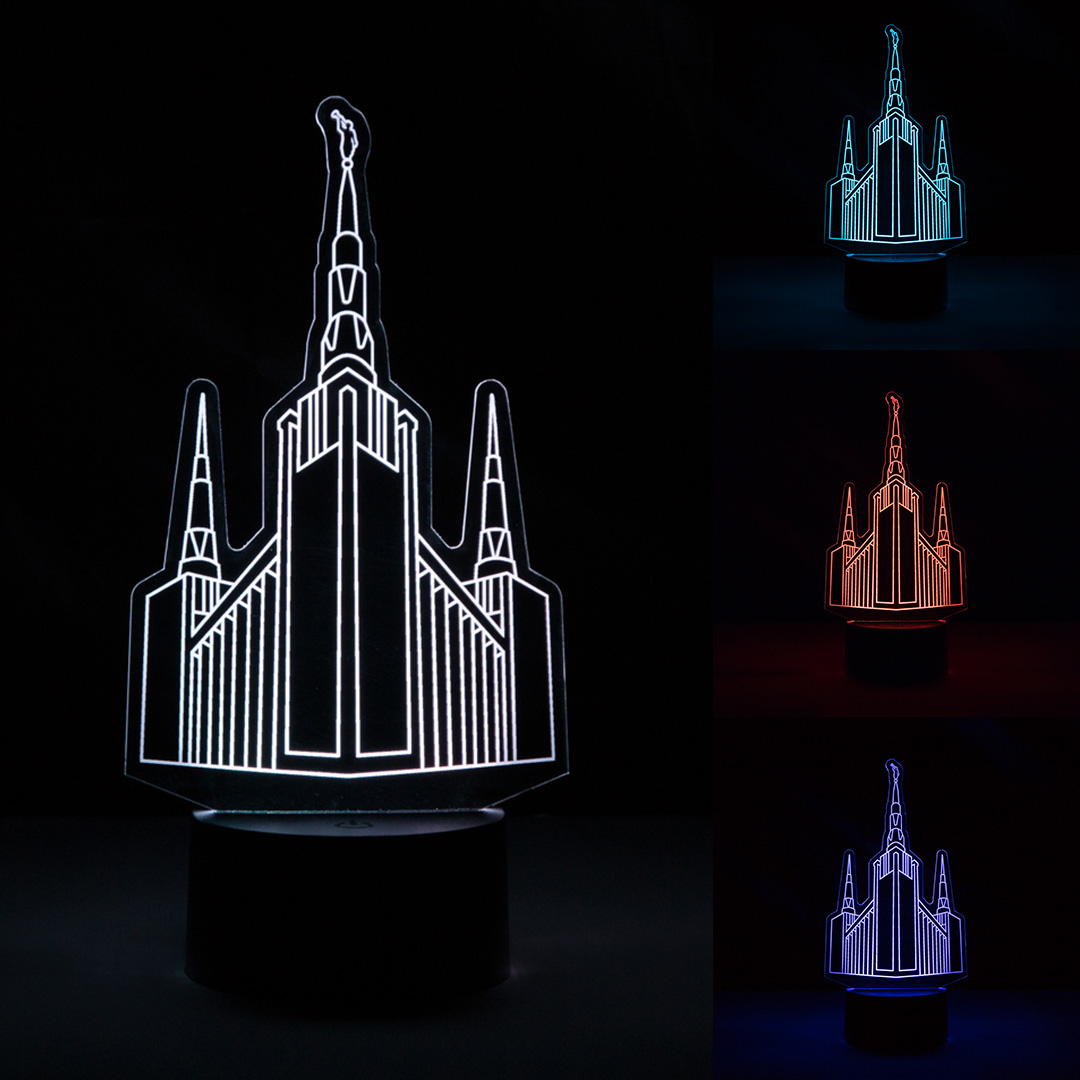 Portland Temple Illuminated Desk Light.