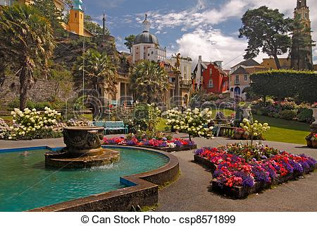 Stock Photographs of Portmeirion Architecture.