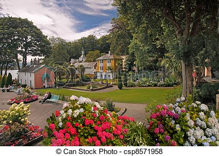 Pictures of Portmeirion Village.