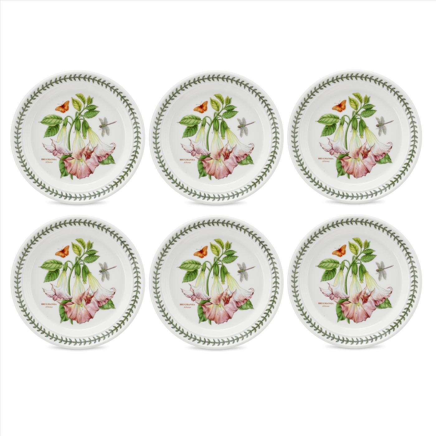 Portmeirion Exotic Botanic Garden Set of 6 Arborea Dinner Plates.