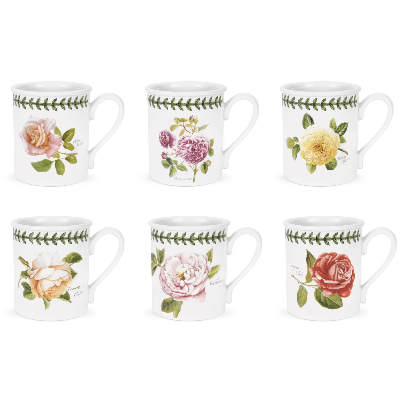 Portmeirion Botanic Roses Breakfast Mug 9oz Set of 6.