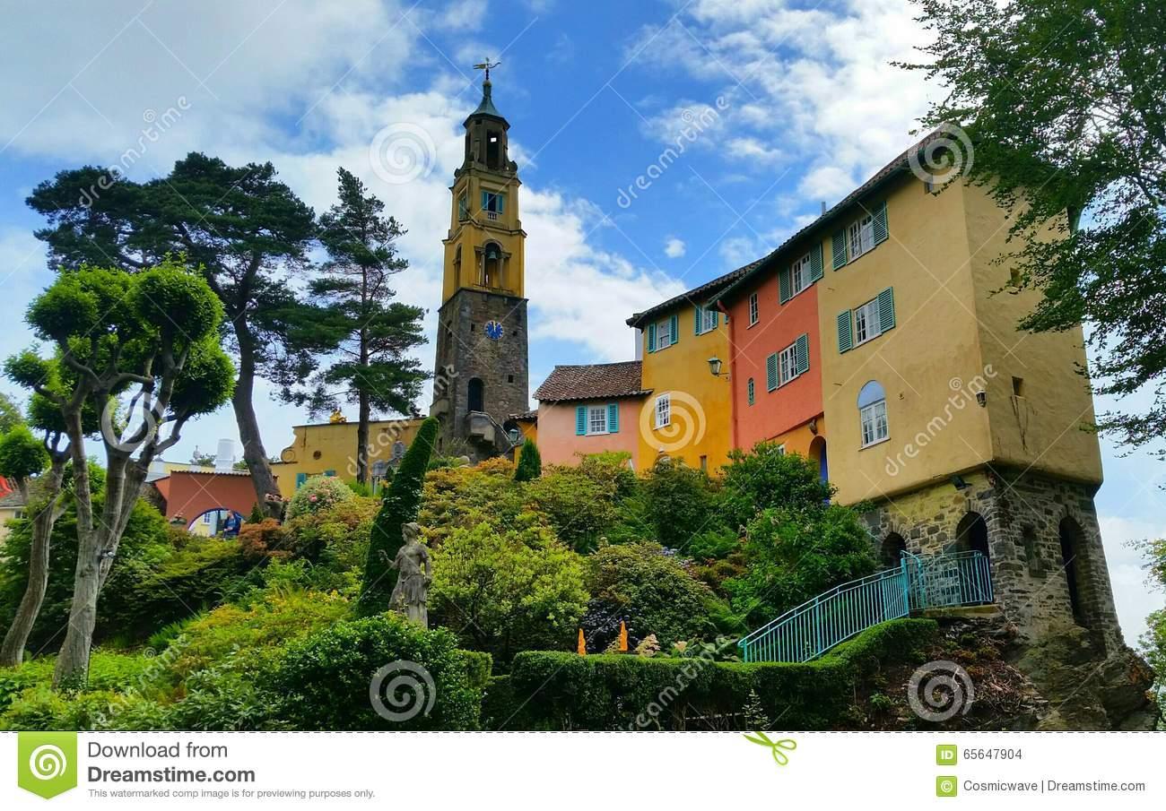 Portmeirion Architecture Stock Photo.