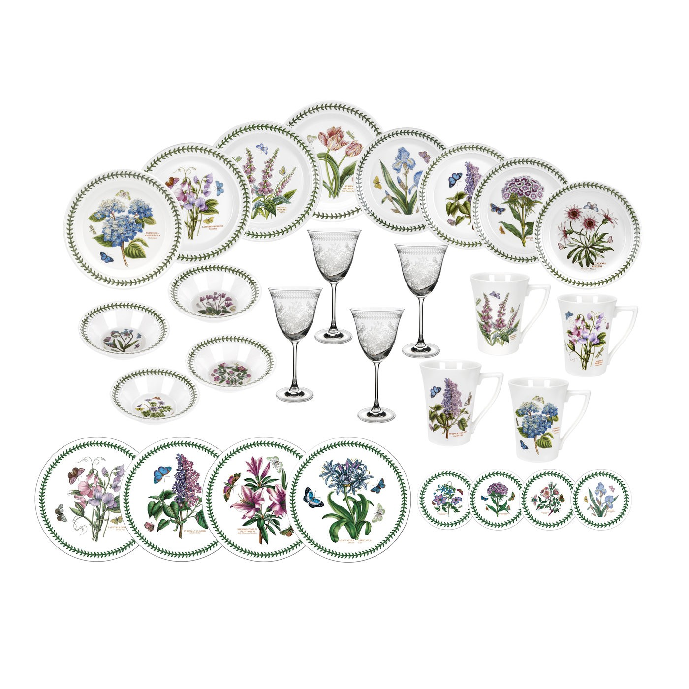 Portmeirion Botanic Garden 28 Piece Set.