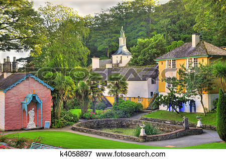 Picture of Portmeirion Village Wales k4058897.