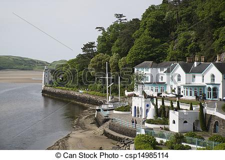 Stock Photography of PORTMEIRION, WALES.
