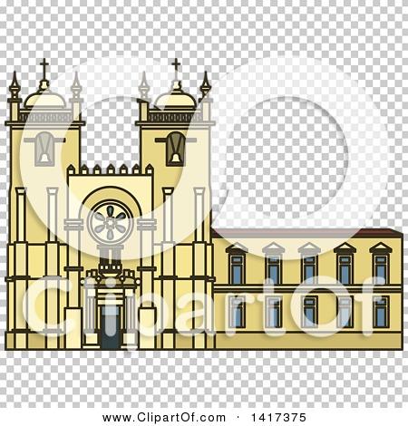 Clipart of a Portuguese Landmark, Porto Cathedral.