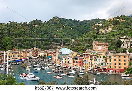 Picture of World famous Portofino village, Italy. k5527087.