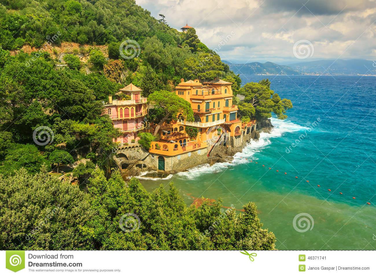 Portofino Italy Clipart.