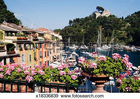 Stock Photograph of Italy, Portofino, Liguria, Portofino with.