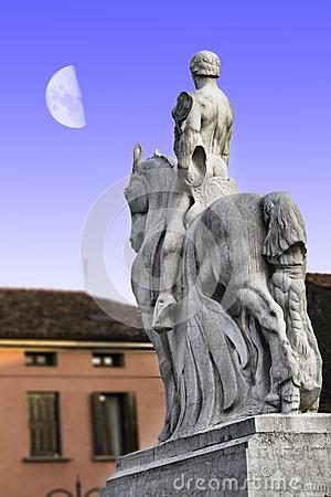 War Memorial Sculpture Of The First World War In Portogruaro.