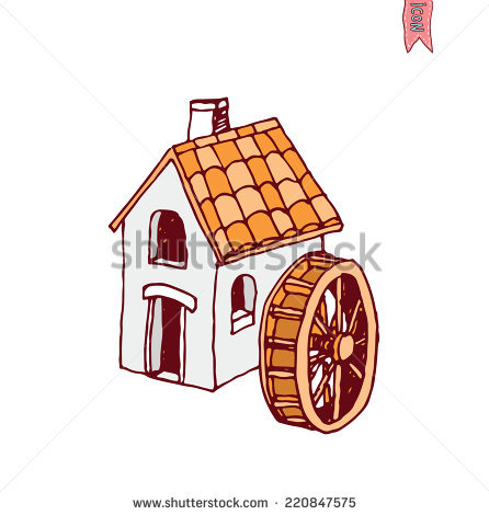 Water Mill Stock Photos, Royalty.