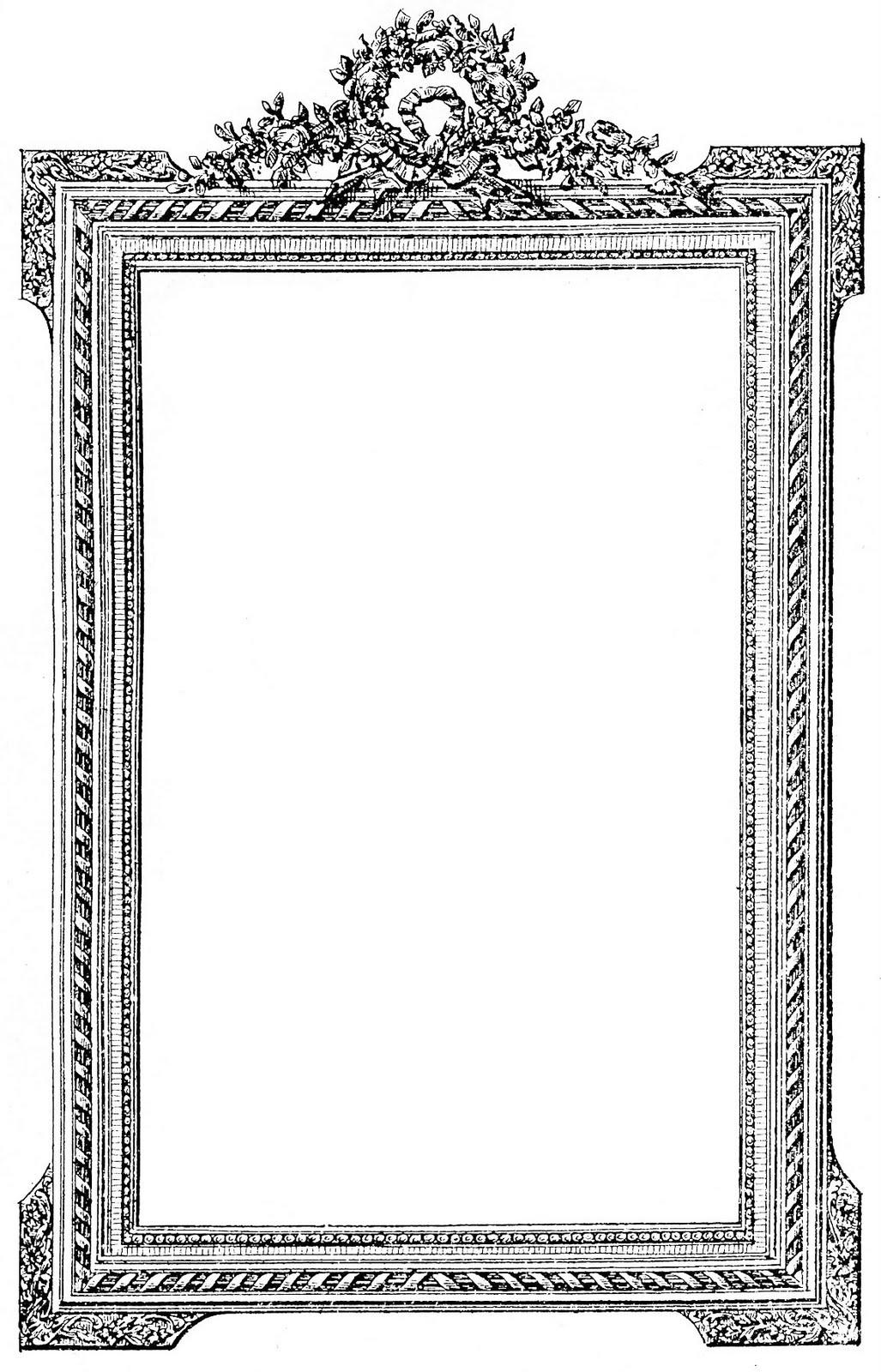Portrait Frame Clipart.