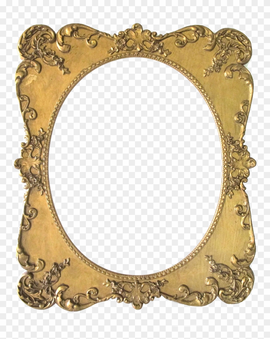 Oval Clipart Portrait Frame.