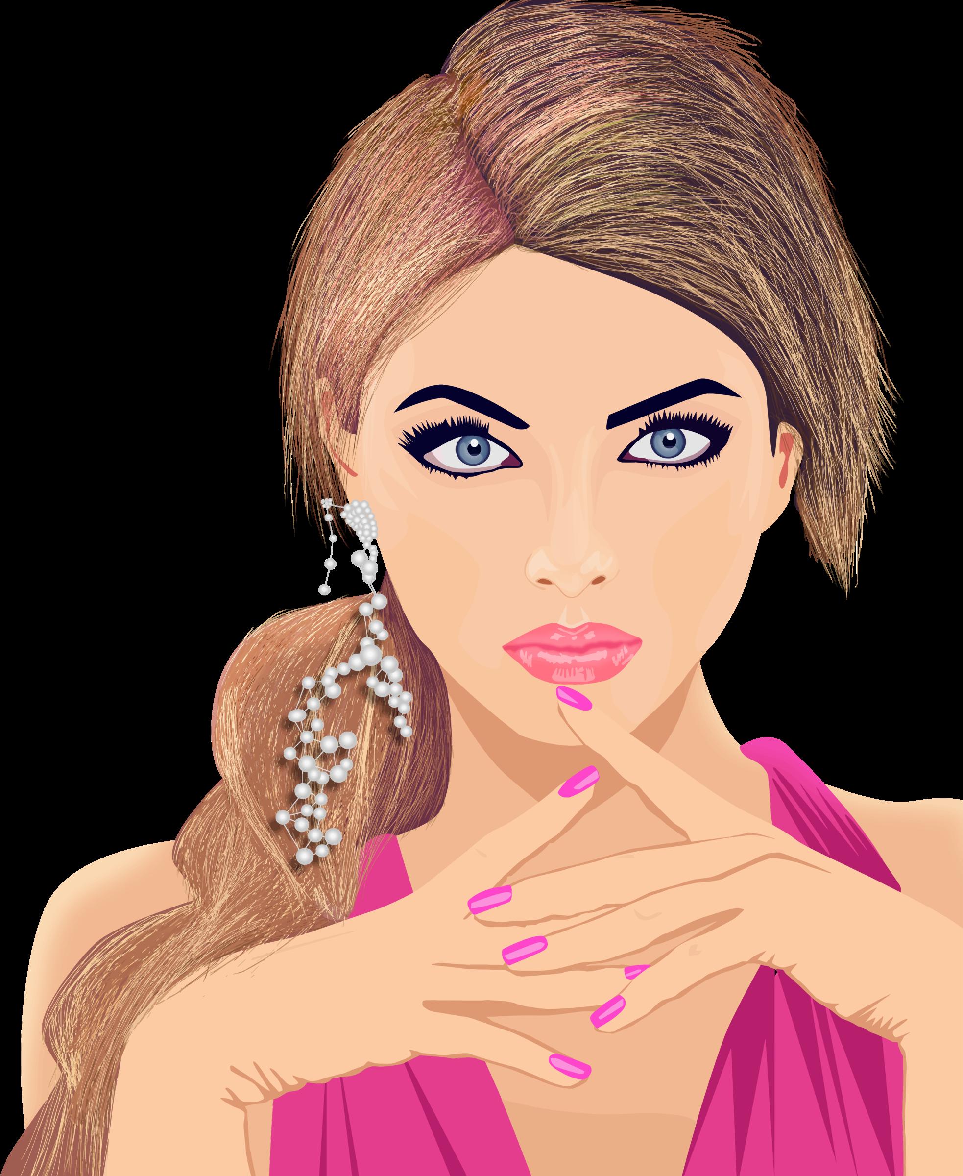 Girl Portrait Clip Art.