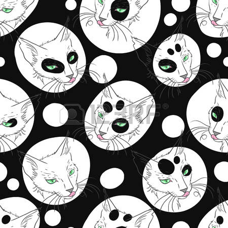 Cat Portrait Stock Illustrations, Cliparts And Royalty Free Cat.