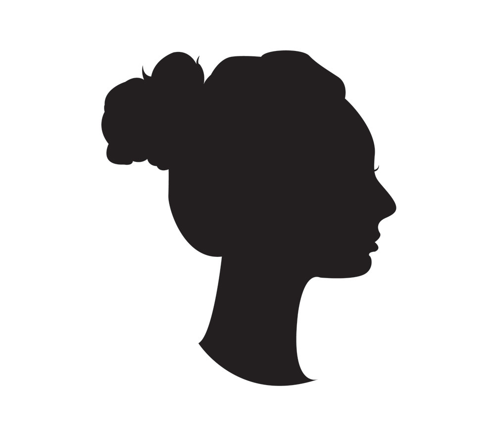 Lady Portrait Silhouette.
