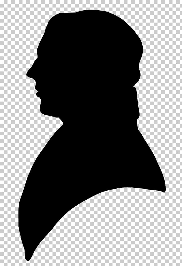 Silhouette Portrait Victorian era Male , man silhouette PNG.