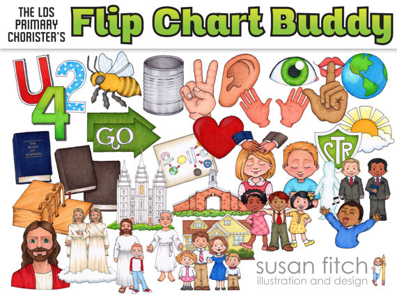 LDS Primary Song Leader Flip Chart Clip Art.