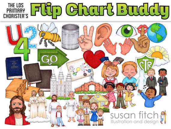 LDS Primary Song Leader Flip Chart Clip Art.