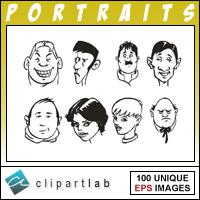 Portraits Clipart CD.