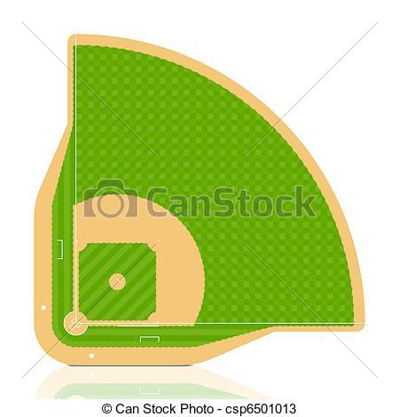 Vectors of Baseball field.