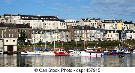 Stock Images of Portrush Harbour.