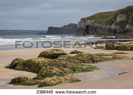 Stock Photograph of Beach at Portrush; County Antrim, Northern.