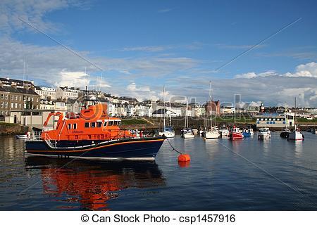 Stock Image of Portrush Lifeboat.