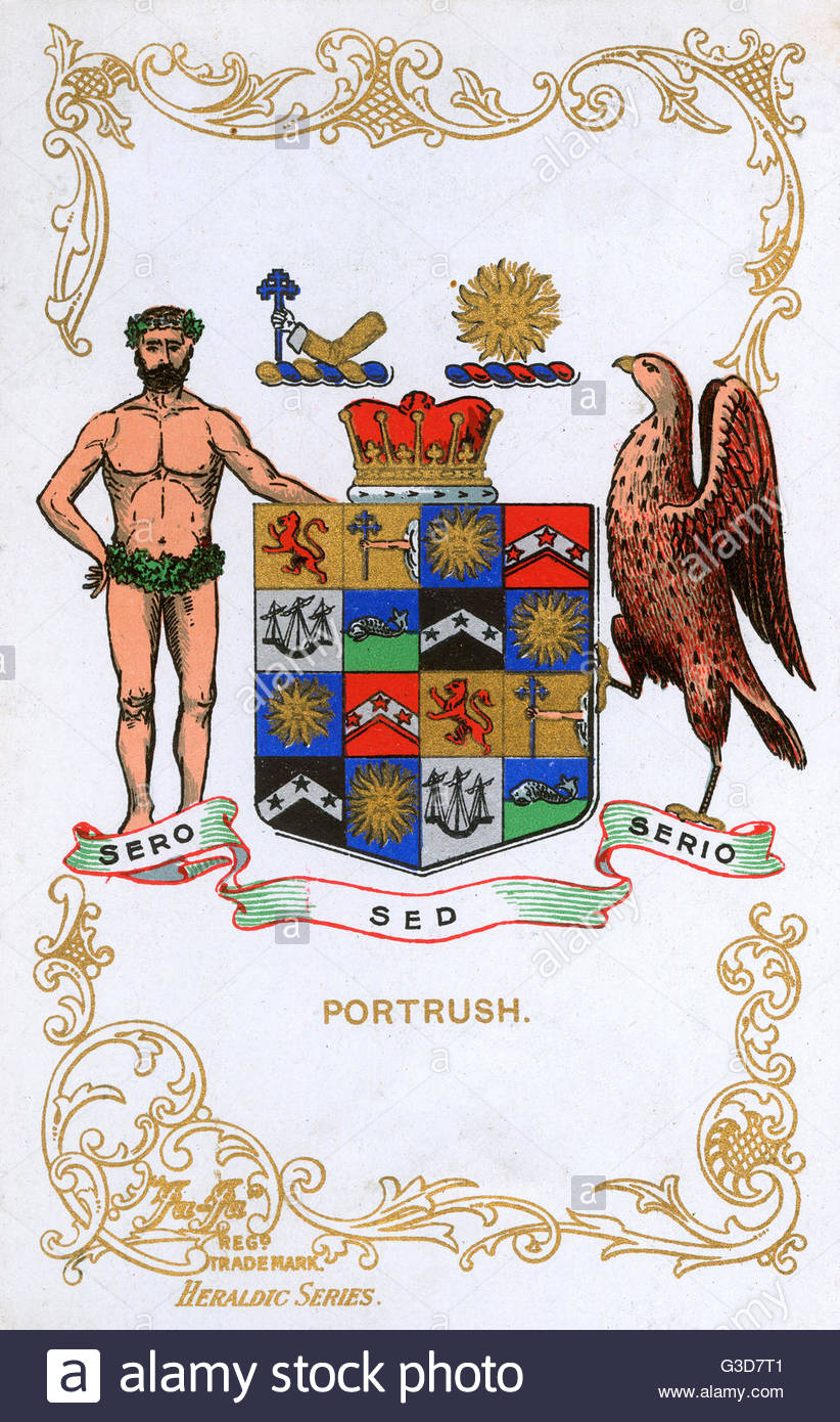 The Coat Of Arms Of Portrush, County Antrim, Northern Ireland.