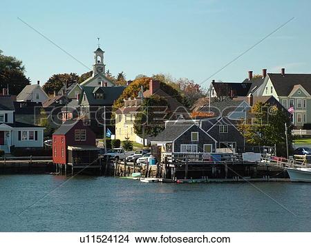 Stock Photo of Portsmouth, NH, New Hampshire, Portsmouth Harbor.