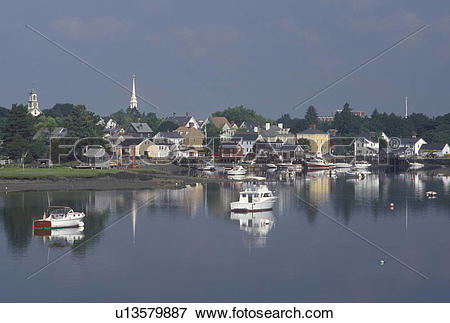 Picture of Portsmouth, NH, New Hampshire, Scenic view of.