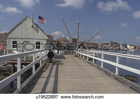 Picture of Portsmouth, NH, New Hampshire, View of Portsmouth and.