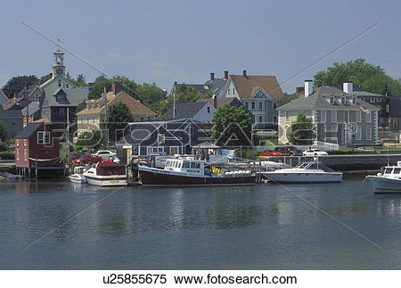 Stock Image of Portsmouth, NH, New Hampshire, Scenic view of.