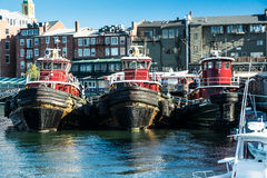 Portsmouth NH Tugboats In Snow Royalty Free Stock Photos.