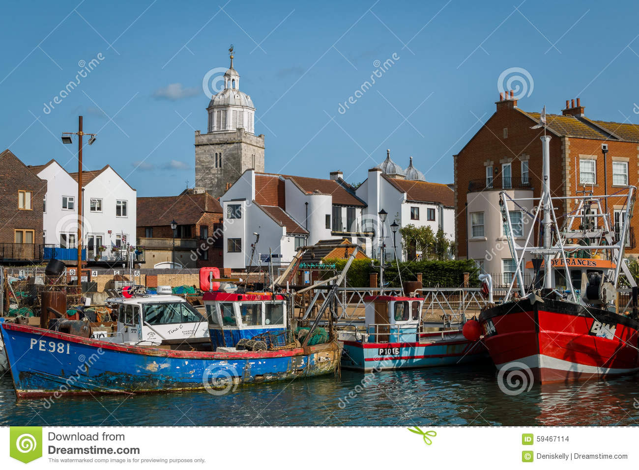 Portsmouth Harbour England. Editorial Stock Image.