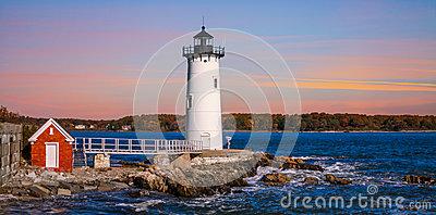 Portsmouth Harbor Light Stock Images.