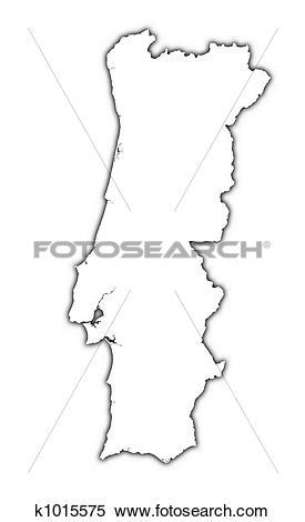 Stock Illustration of Portugal outline map k1015575.