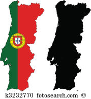 Portugal map Clipart Illustrations. 982 portugal map clip art.