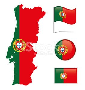 Portugal Map & Flag premium clipart.