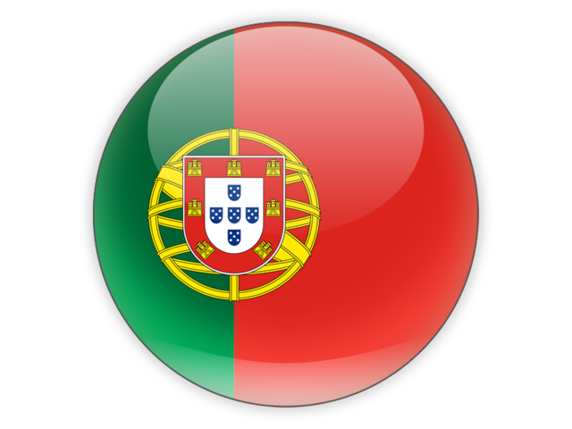 Round icon. Illustration of flag of Portugal.