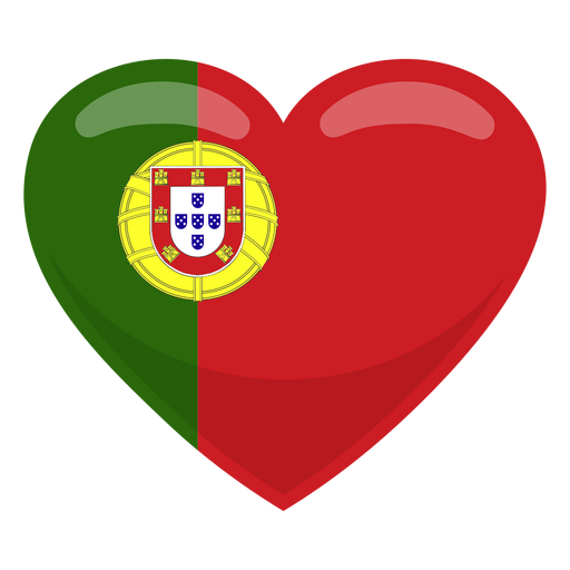 Portugal heart flag heart flag.