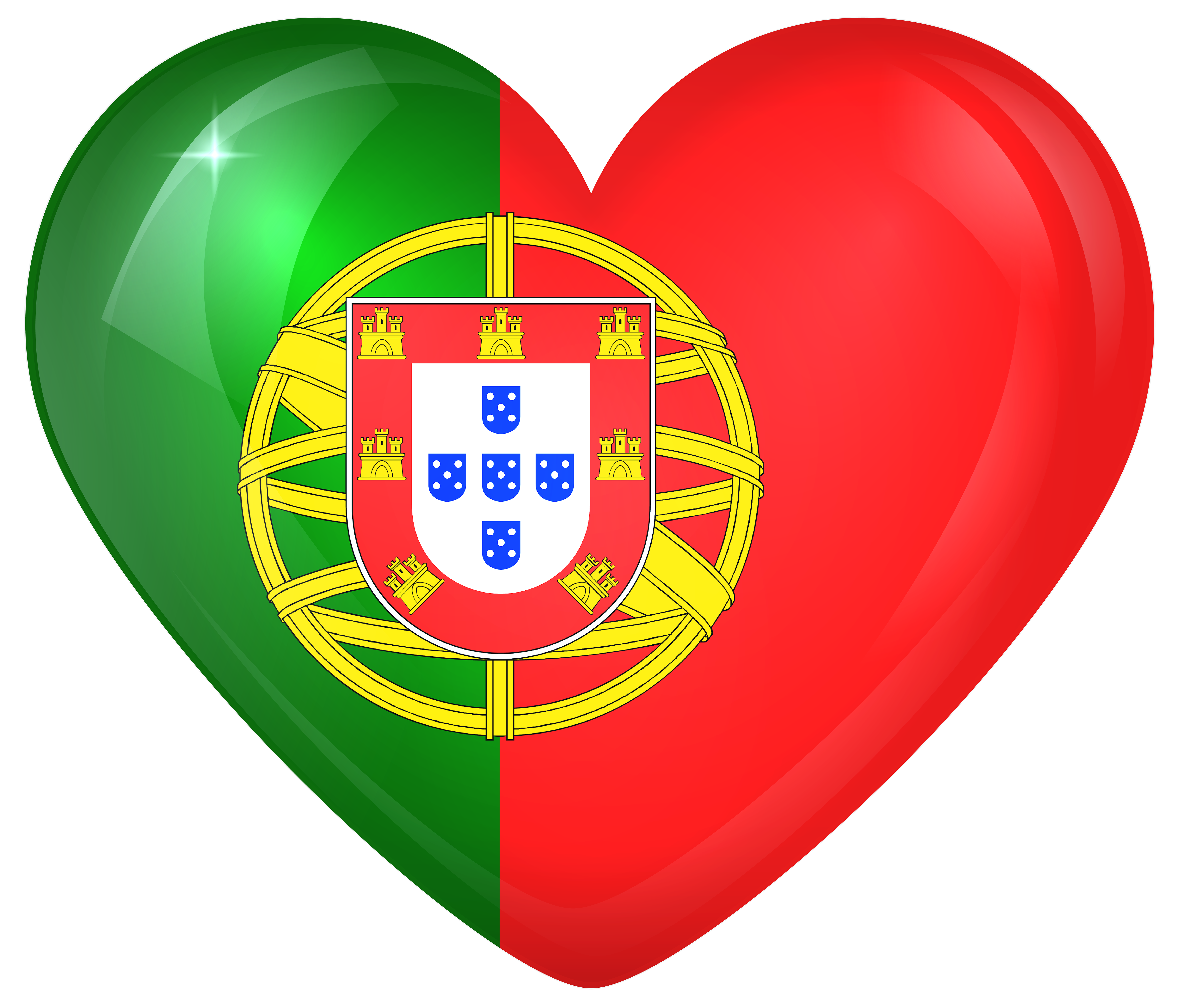 Portugal Large Heart Flag.
