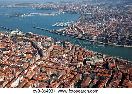 Picture of Portugalete and Las Arenas, Bilbao, Biscay, Basque.