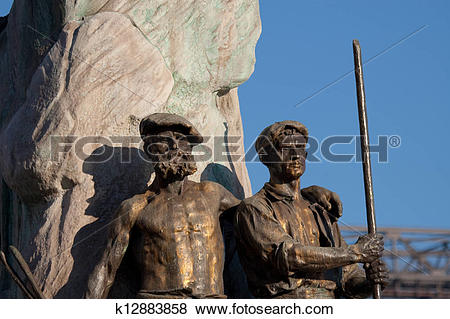Pictures of Sculpture in Portugalete, Bizkaia, Basque Country.