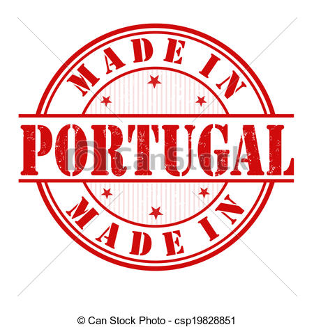 Clipart Vector of Made in Portugal stamp.