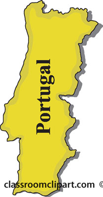 Portugal map clipart.