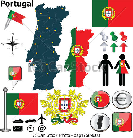 Portugal map Clipart Vector and Illustration. 1,073 Portugal map.