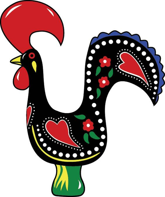 Portuguese rooster clipart.