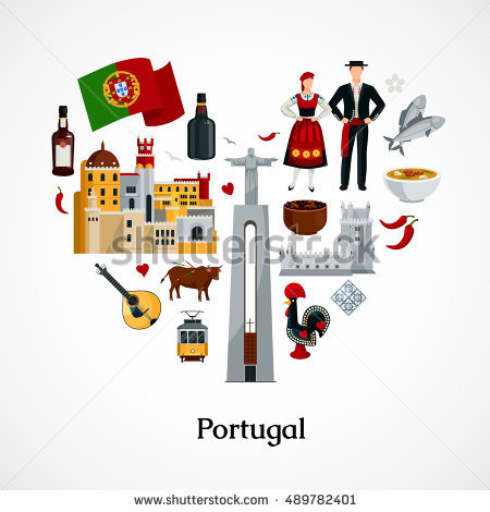 Portugal Flag Stock Photos, Royalty.